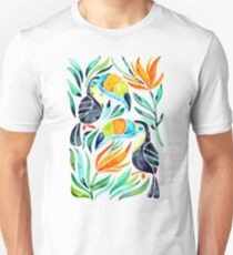 Tropical Toucans Unisex T-Shirt