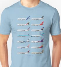 Airbus A380 Operators Illustration - Blue Version T-Shirt