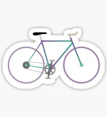 Fixie ~purplegreen Sticker