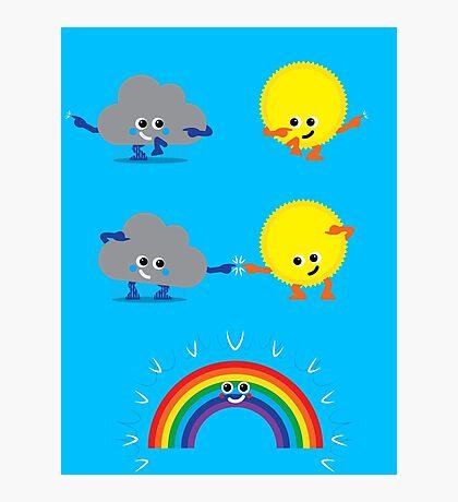Character Fusion - Rainbow Photographic Print