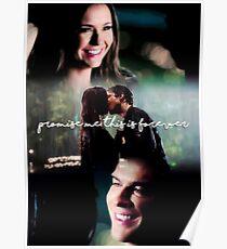 "Póster ""Prométeme que esto es para siempre"" - The Vampire Diaries"