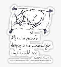 Cat Nap Haiku Sticker