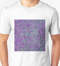 Abstract Splatter Purple And Green T-Shirt