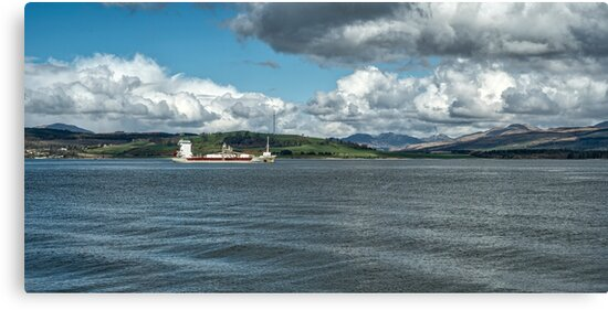 The River Clyde at Greenock, Scotland by Jeremy Lavender Photography