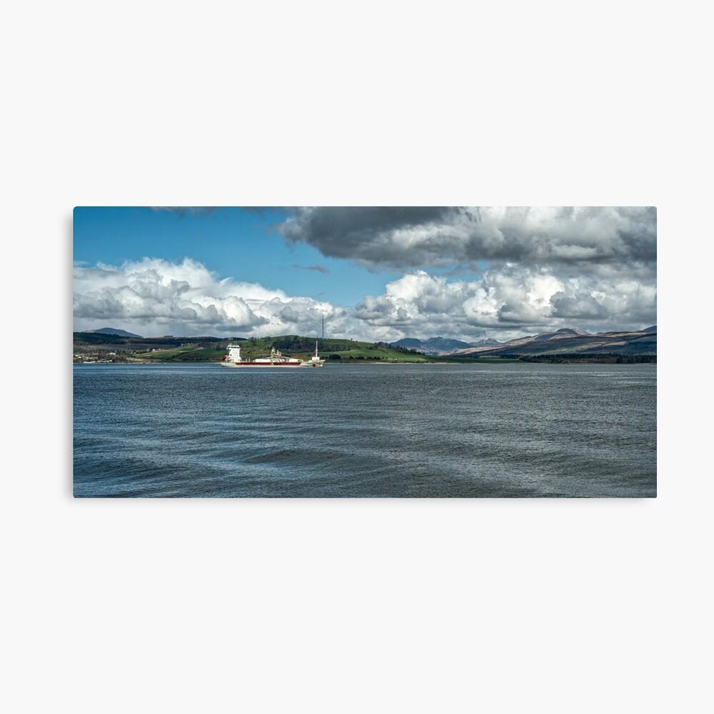 El río Clyde en Greenock, Escocia Lienzo