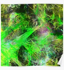 Neon Galaxy Poster