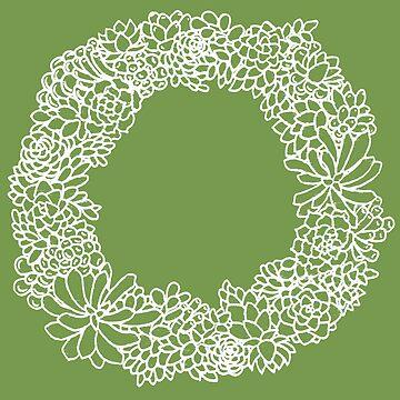 Succulent Wreath by JenniferCharlee