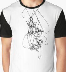 Puppet Descending - Line Art Only Graphic T-Shirt