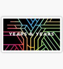 Years years logo tour dates 2017 Sticker