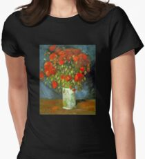 'Red Poppies' by Vincent Van Gogh (Reproduction) T-Shirt