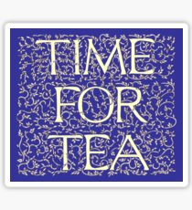 Time For Tea (Royal Blue) Sticker