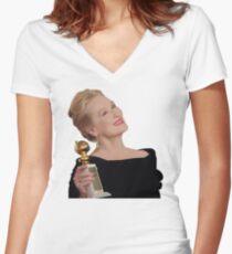 Meryl Streep: All The Awards Women's Fitted V-Neck T-Shirt