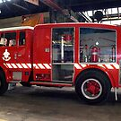 Fire truck at Melbourne Fire Museum - Australia by Bev Pascoe