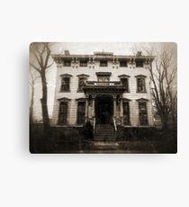 Spooky Mansion Canvas Print