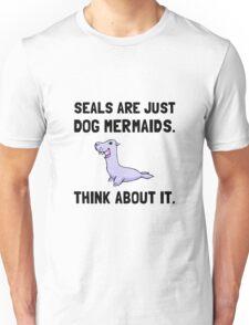 Seals Are Dog Mermaids Unisex T-Shirt