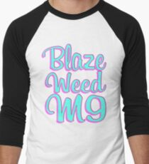 Blaze Weed M9 Men's Baseball ¾ T-Shirt