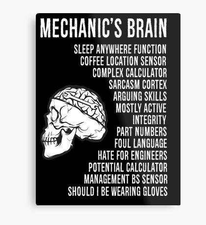 Mechanic's Funny Metal Print