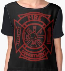 Fire Department Chiffon Top