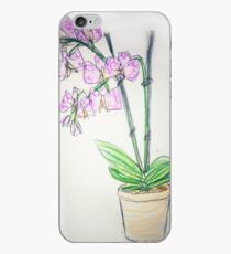 Sketch style orchid iPhone Case