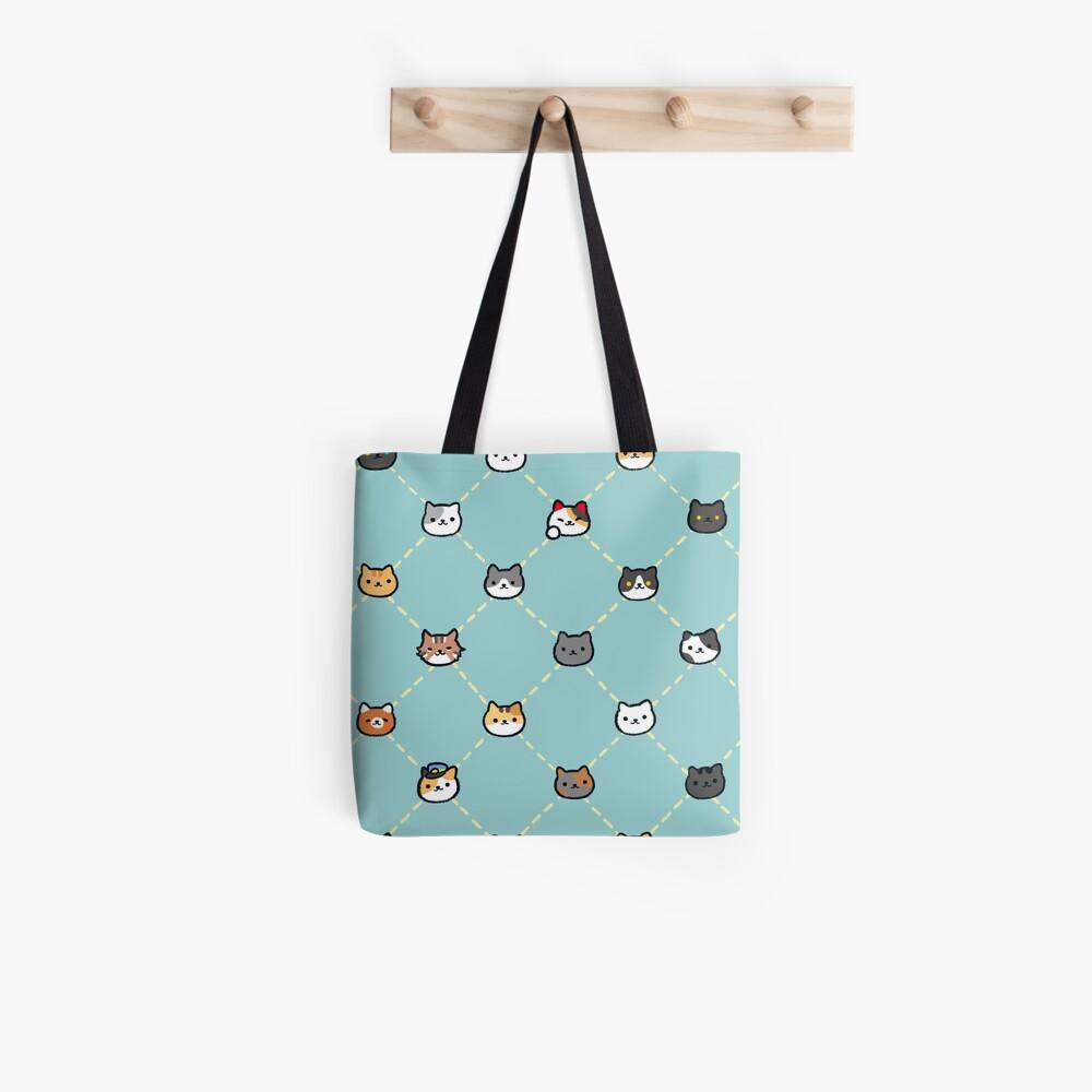 Neko Atsume Muster Stofftasche