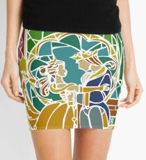 Beauty and The Beast - Stained Glass Mini Skirt