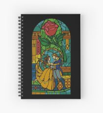 Beauty and The Beast - Stained Glass Spiral Notebook