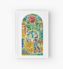 Beauty and The Beast - Stained Glass Hardcover Journal