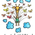 Stretch and Be Lifted: Whimsical Giraffe Watercolor Illustration by mellierosetest