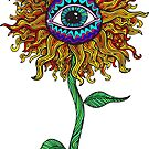 Psychedelic Sunflower - Exciting New Art - Doona is my favourite! by ptelling