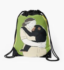 Dr Jane Goodall Drawstring Bag