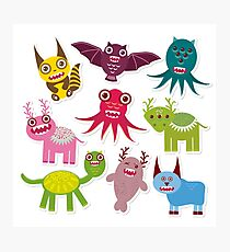 Funny monsters Photographic Print