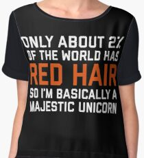 Red Hair Funny Quote Chiffon Top