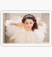 beautiful bride in white dress Sticker