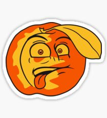 peach delicious fruit comic cartoon face disgust funny Sticker