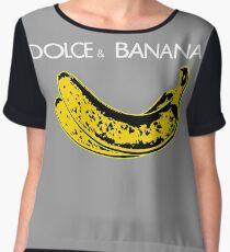 Dolce & Banana - Bananas Lovers Fruitarians Vegan Fashion  Tee / Sticker Chiffon Top