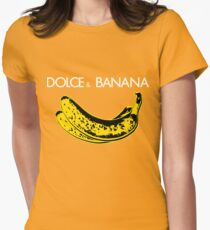 Dolce & Banana - Bananas Lovers Fruitarians Vegan Fashion  Tee / Sticker Womens Fitted T-Shirt