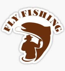Trout Fly Fishing Isolated Retro Sticker