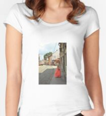 girl, dancing Women's Fitted Scoop T-Shirt