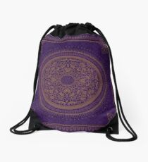Indigo Home Medallion  Drawstring Bag