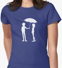Caught in the Rain Womens Fitted T-Shirt