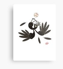 Bird & Baseball Metal Print