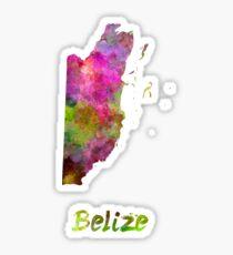 Belize in watercolor Sticker
