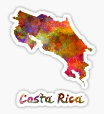Costa Rica in watercolor Sticker