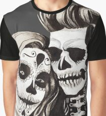 Day of the Dead Lovers Graphic T-Shirt