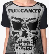 Fuck Cancer // Pixel Skull // Flowers  Chiffon Top