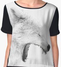 Arctic Wolf Chiffon Top