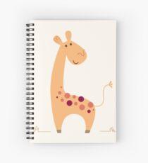 Beautiful Yellow artist Safari Giraffe Spiral Notebook