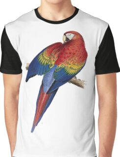 Illustration of A Scarlet Macaw Isolated On White Graphic T-Shirt