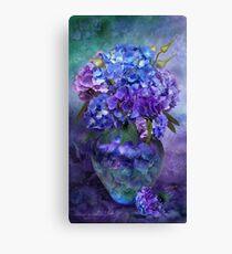 Hydrangeas In Hydrangea Vase Canvas Print