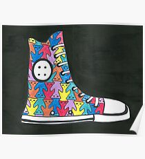 Pete the Cat Loves His Groovy Multi-Colored Shoes Poster